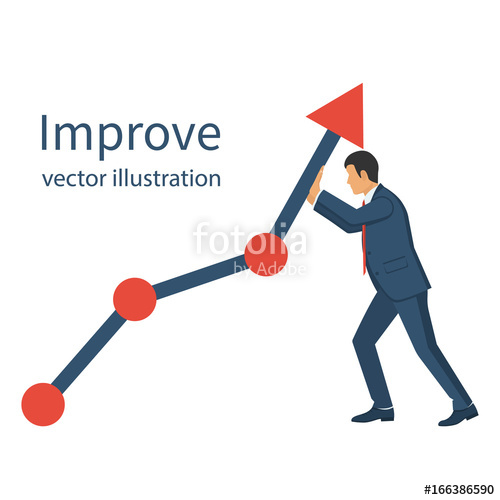 500x500 Business Concept. Improve. Changing Direction. Growth Graph Trade