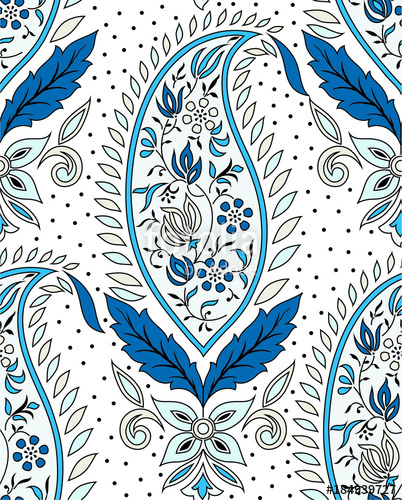 402x500 Indian Traditional Paisley Pattern Stock Image And Royalty Free