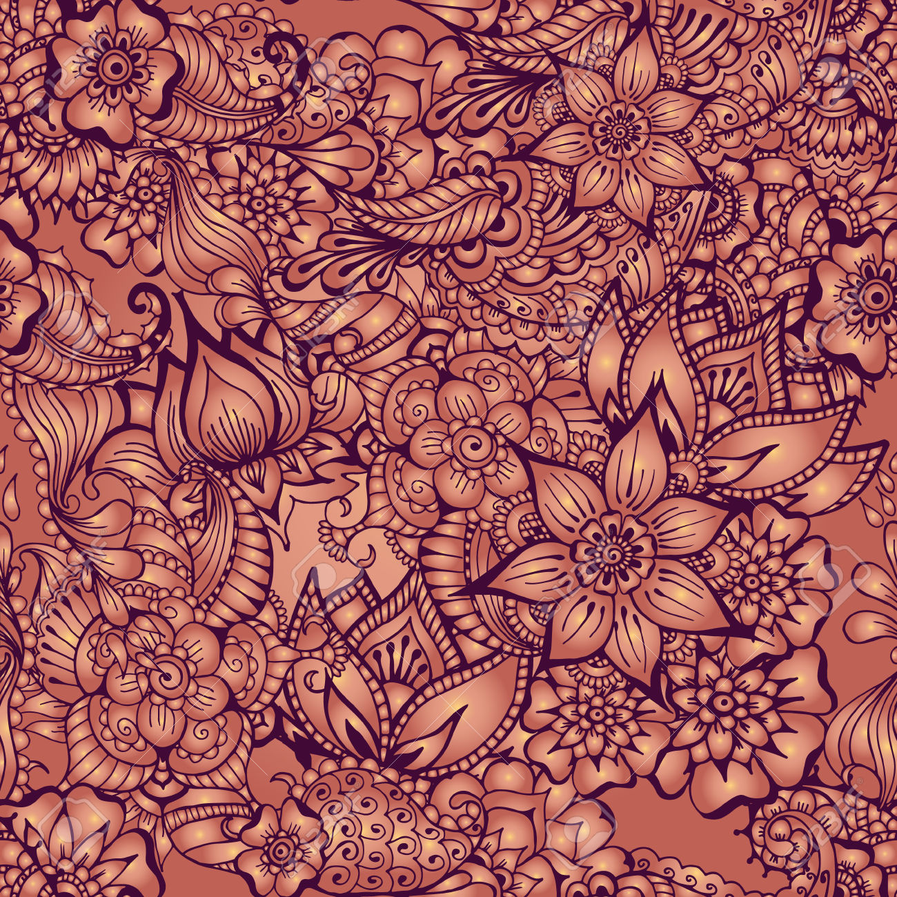 1300x1300 37068661 Pattern With Traditional Indian Ornamental Design Floral