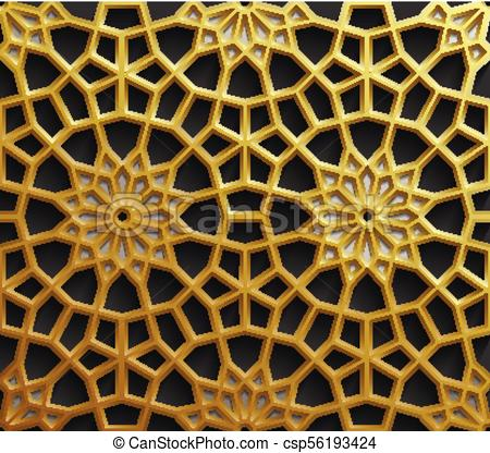 450x416 Islamic Oriental Patterns, Seamless Arabic Geometric Ornament