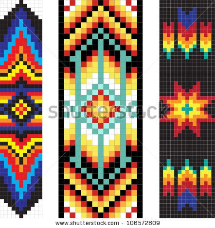 442x470 Traditional (Native) American Indian Pattern, Vector