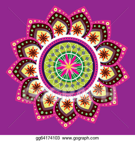 450x469 Traditional Clipart Indian Pattern