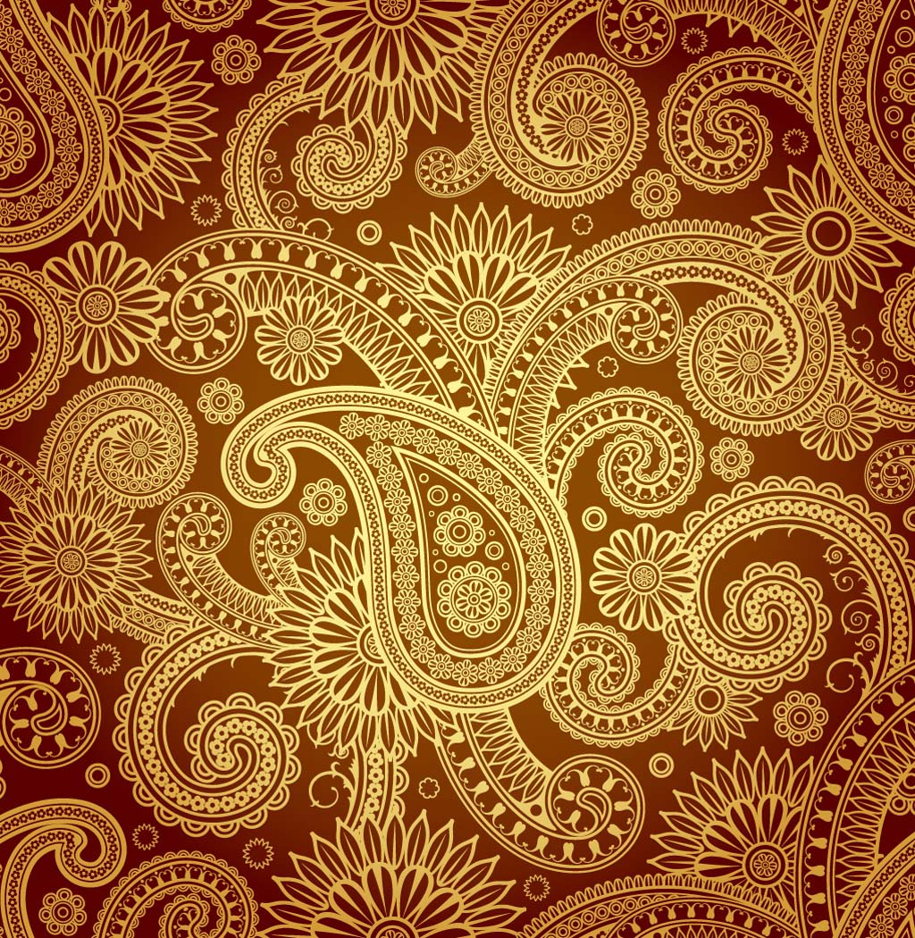 1024x1050 7 Free Paisley Vector Patterns Images