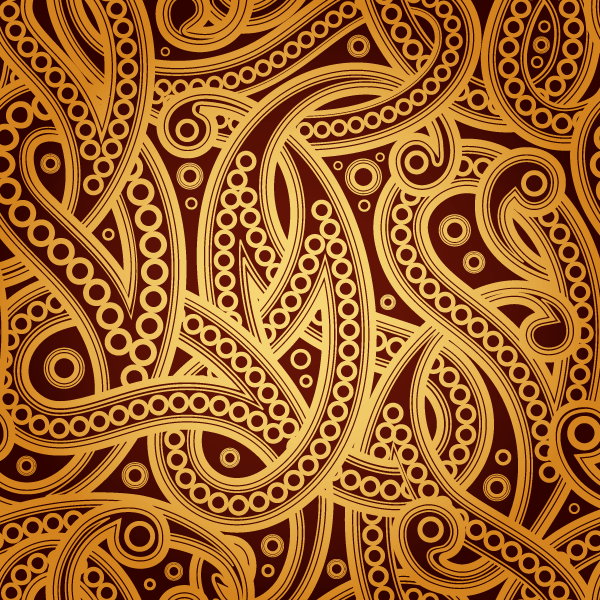 600x600 Free Vector Vintage Paisley Pattern Background 123freevectors