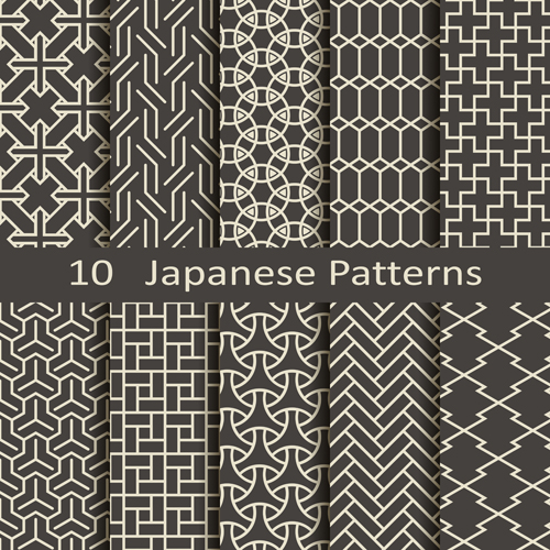 500x500 Vector Japanese Style Seamless Patterns Free Download