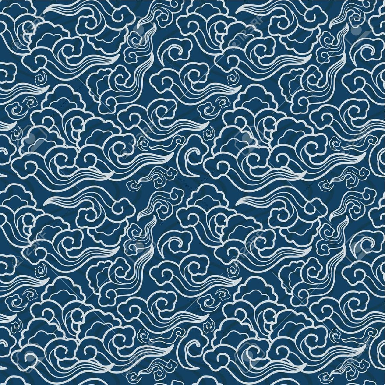 1300x1300 Traditional Japanese Seamless Patterns With Geometric And Nature