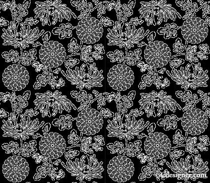 425x369 4 Designer Japanese Traditional Tiled Background Vector Material