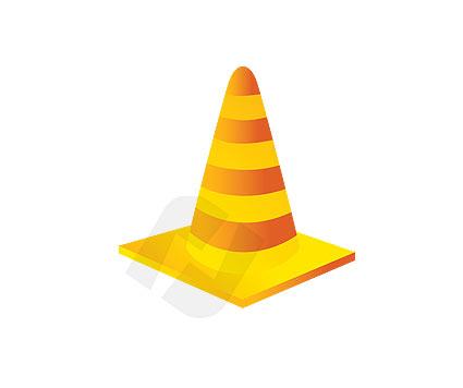 425x356 Traffic Cone Vector Clip Art 00066