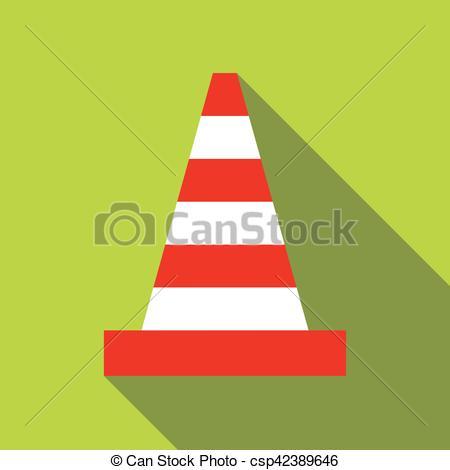 450x470 Traffic Cone Icon, Flat Style. Traffic Cone Icon. Flat