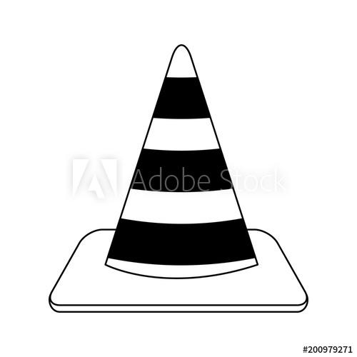 500x500 Construction Traffic Cone Vector Illustration Graphic Design