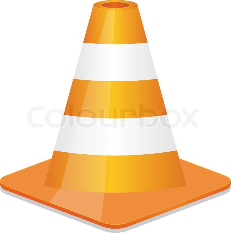 794x800 Orange Traffic Cone Stock Vector Colourbox