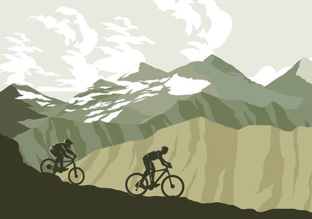 632x443 Mountain Bike Trail Vector Free Vector Download 421801 Cannypic
