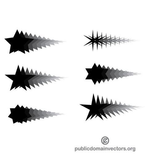500x500 Star Trail Vector Graphics Public Domain Vectors