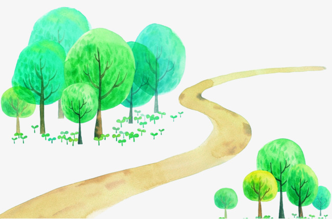 650x429 Tree Lined Trail Vector, Trees, Trail, Small Fresh Png And Vector