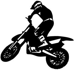 300x300 Biker Vector Image 2