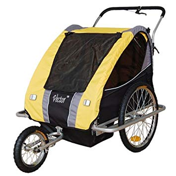355x355 Vector Children Bicycle Trailer Amp Jogger Combo Yellow