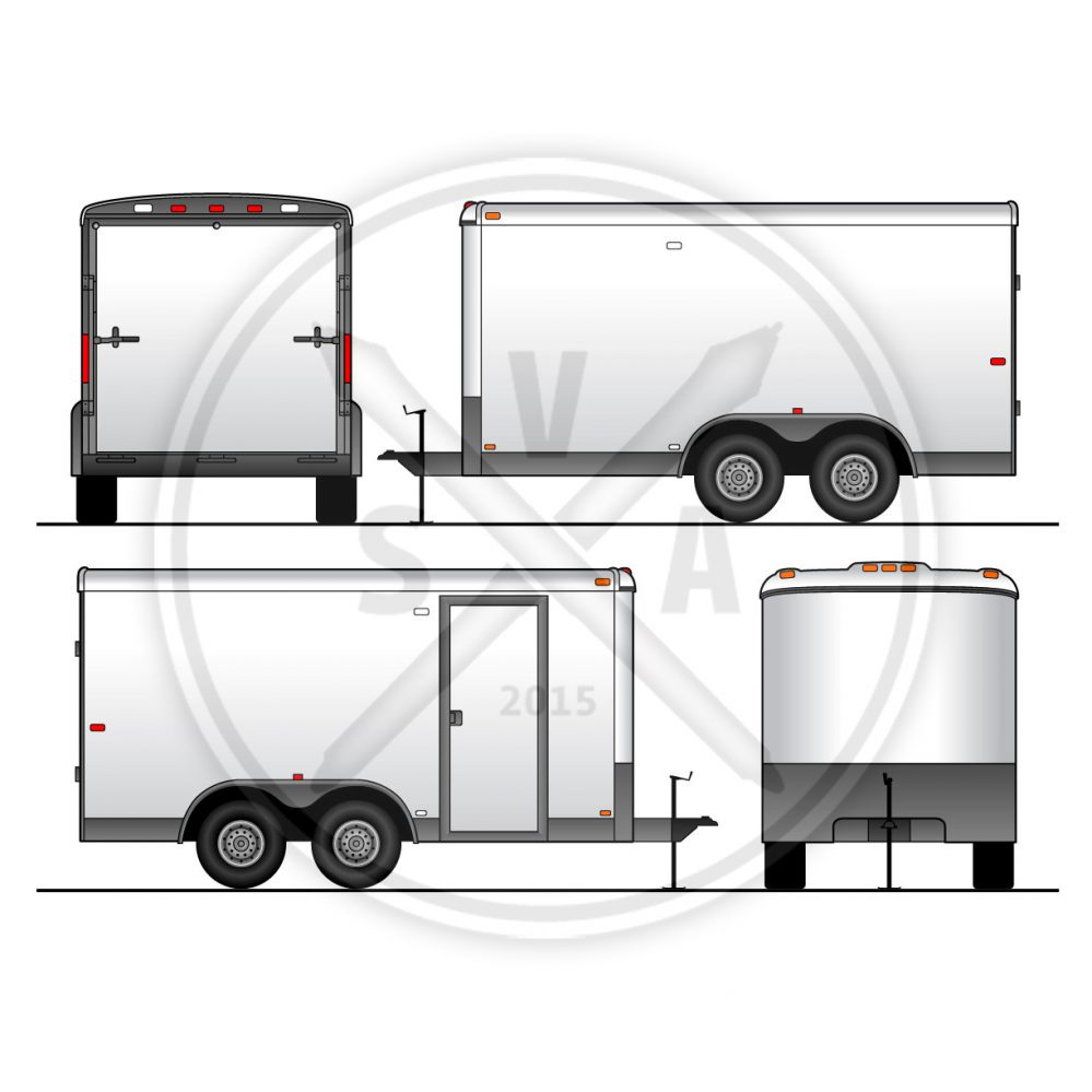 999x999 Utility Trailer Vehicle Outline