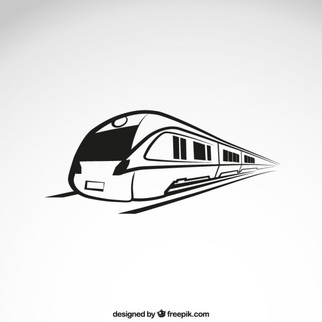 626x626 High Speed Train Vector Free Download