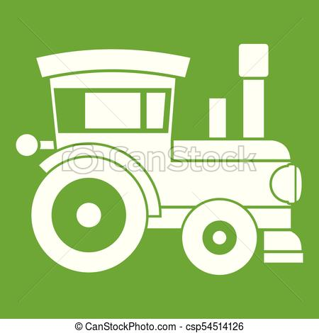 450x470 Toy Train Icon Green. Toy Train Icon White Isolated On Green