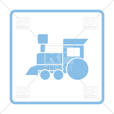 400x400 Blue Frame Design Of Train Toy Icon Vector Image Vector Artwork