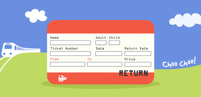 Train Ticket Vector