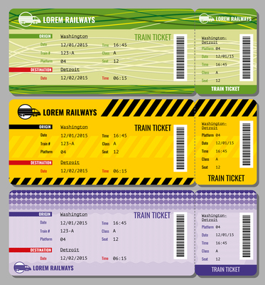 373x400 Page 1 Ticket On Curated Vector Illustrations, Stock Royalty Free