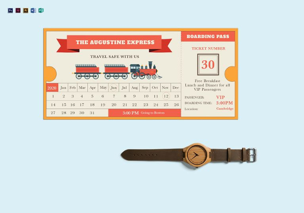 600x420 Printable Ticket Template