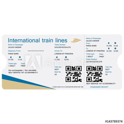 500x500 Train Ticket Vector