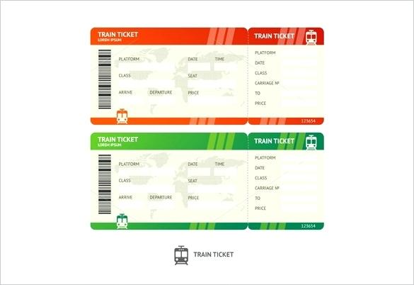 585x402 Blank Train Ticket Vector Format Car Wash Template Download