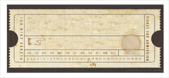 585x269 Blank Train Ticket Template Blank Ticket Templates 29 Free Psd