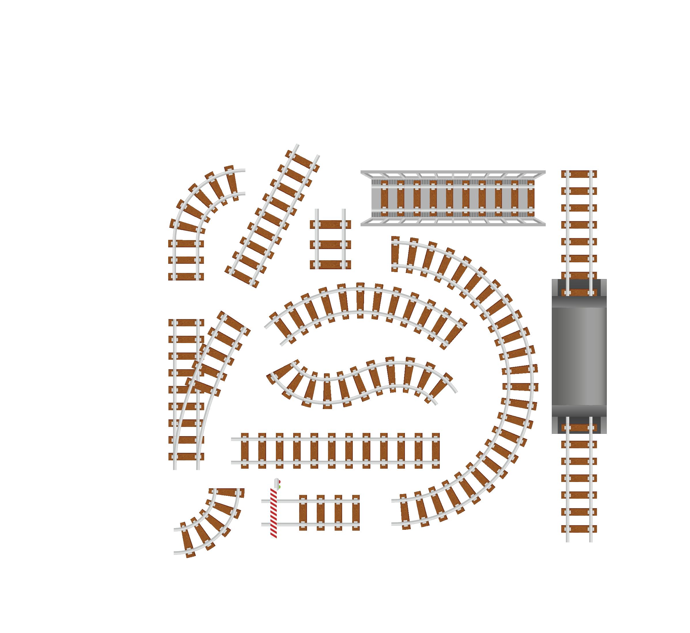 2396x2196 Rail Transport Train Track