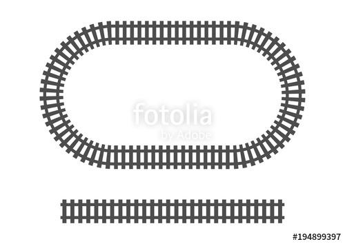 500x354 Locomotive Railroad Track Frame Railway Train Transport Stock
