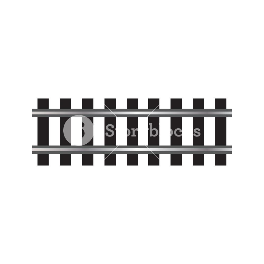 1000x1000 Locomotive Railroad Track Rail Transport Isolated Vector Element