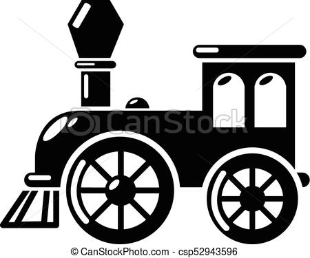 450x375 Old Train Icon, Simple Style. Old Train Icon. Simple Illustration