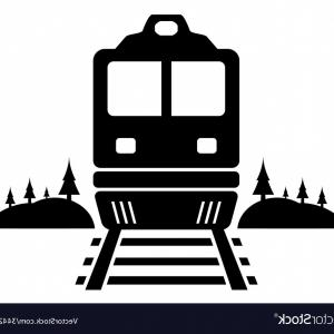 300x300 Rail Road Icon With Moving Train Vector Lazttweet