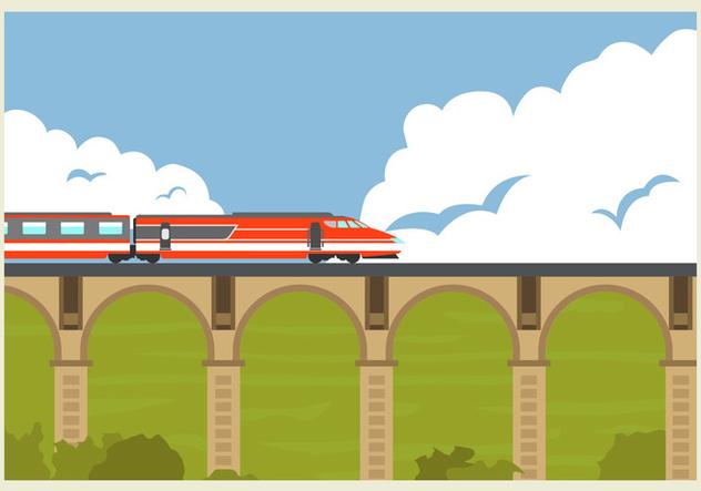 632x443 High Speed Rail Tgv Train Vector Illustration Free Vector Download
