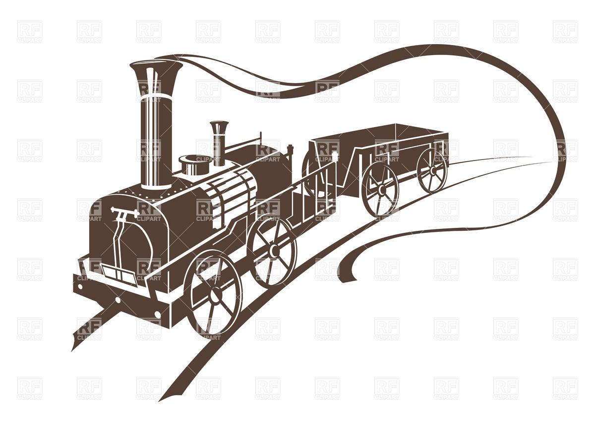 1200x866 Abstract Retro Train Vector Image Vector Artwork Of