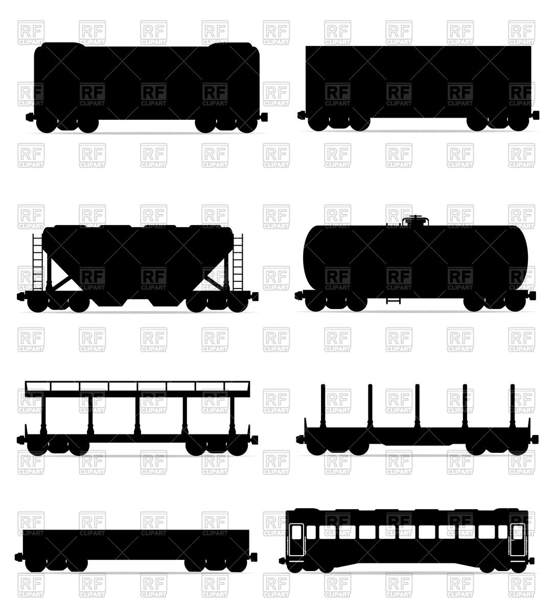 1086x1200 Railway Carriages Silhouette