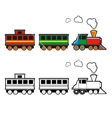 380x400 Toy Train Vector 243976