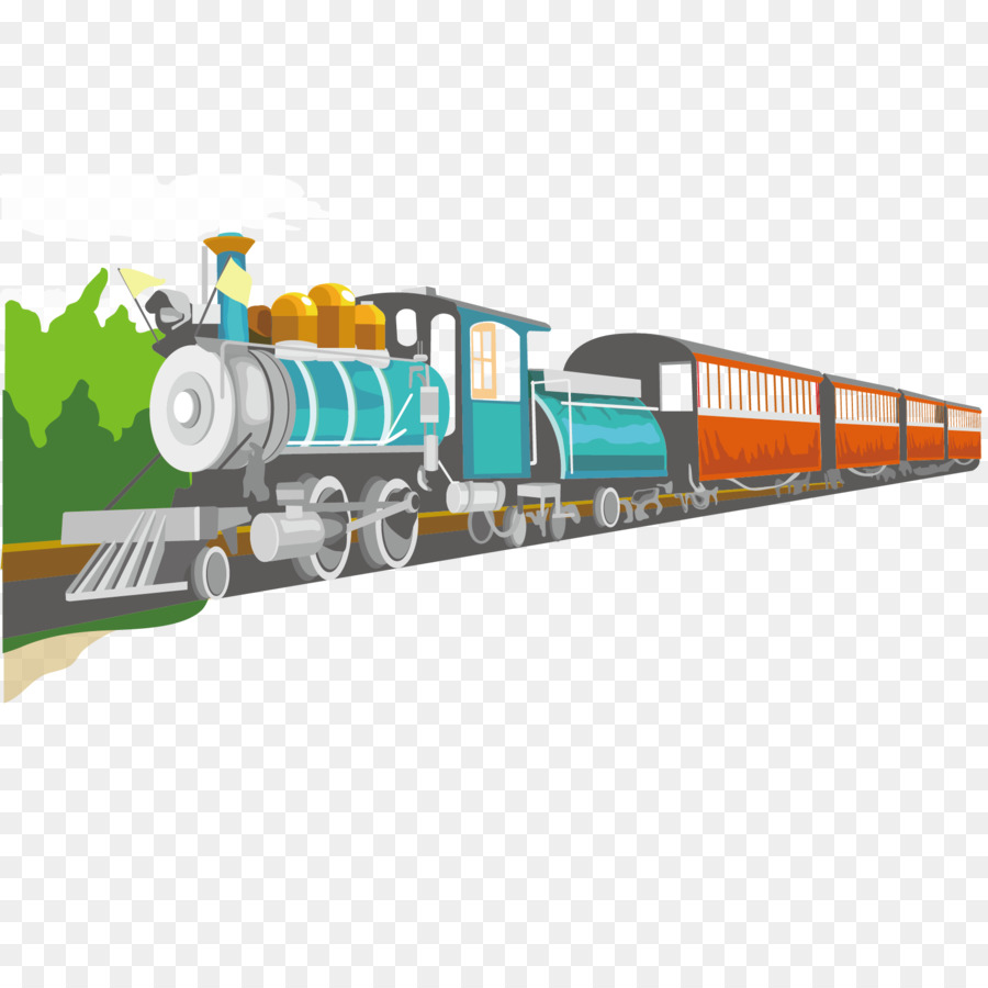 900x900 Train Rail Transport Cartoon Locomotive