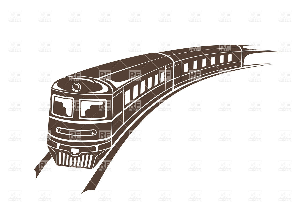 1200x866 Simple Illustration Of Modern Train Vector Image Vector Artwork