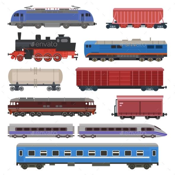 590x590 Train Vector Railway Transport Locomotive Or Wagon By Vectoristik