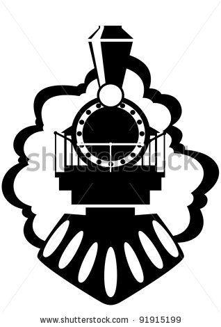 318x470 Steam Engine Vector