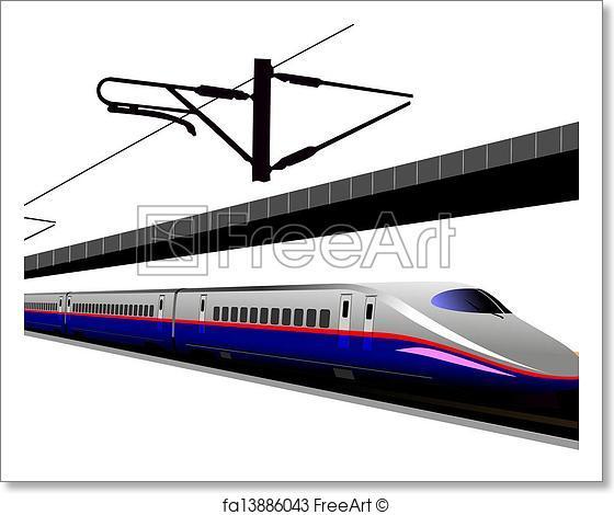 560x470 Free Art Print Of Shinkansen Bullet Train. Vector Illustration
