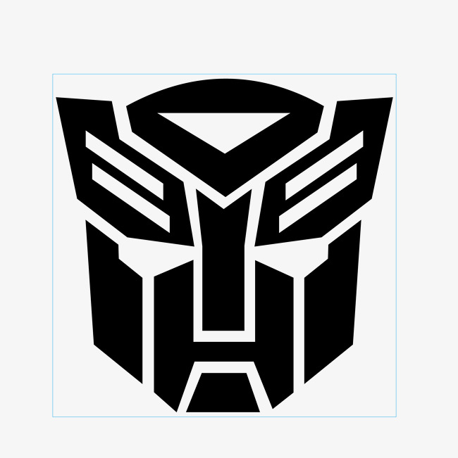 650x651 Transformers Face Sticker Vector, Transformers, Transformers Face