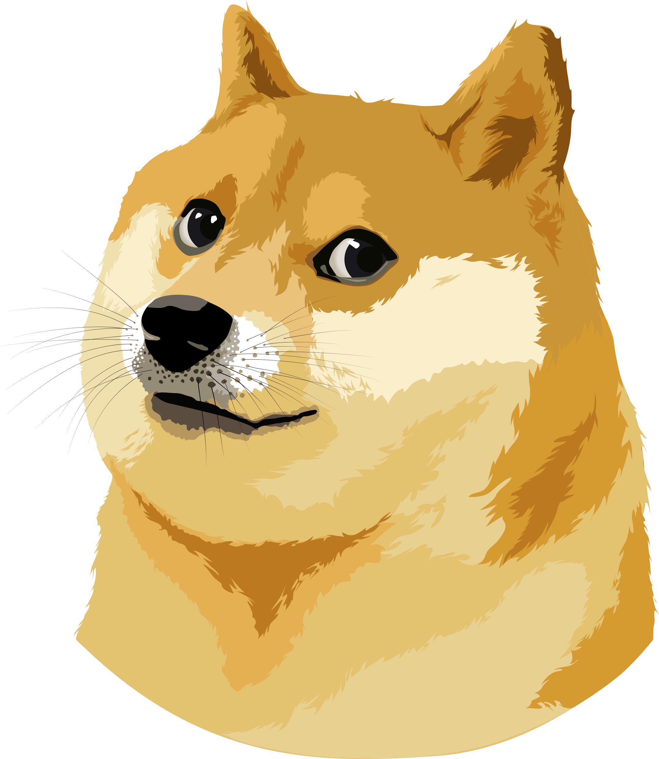 2150x2477 Doge Vector Illustration Transparent Png