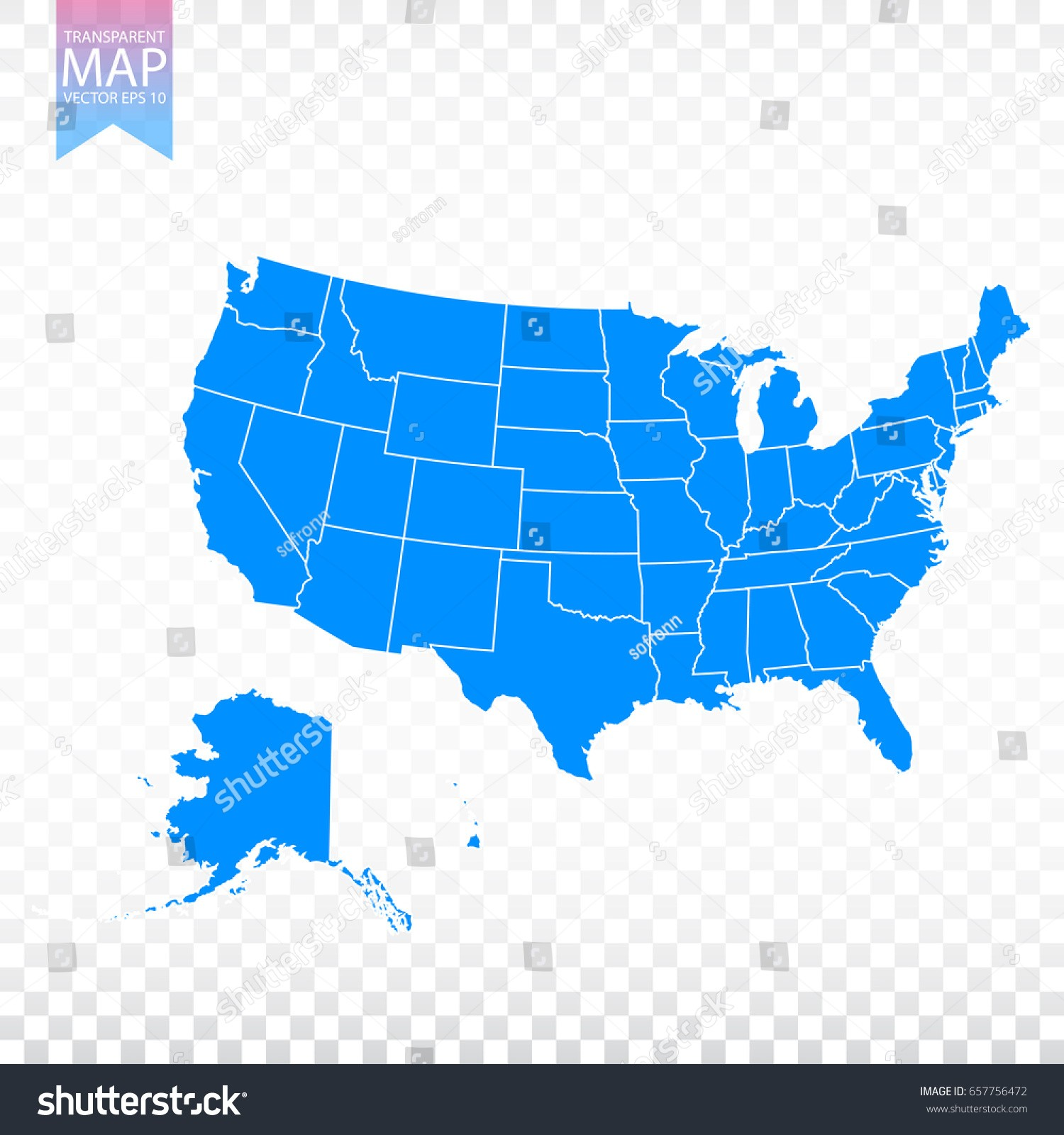 1500x1600 Maps. Us Map Transparent Background Stock Vector Transparent High
