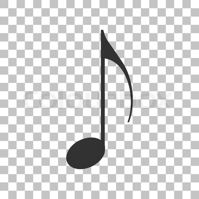 800x800 Music Note Sign. Dark Gray Icon On Transparent Background. Stock