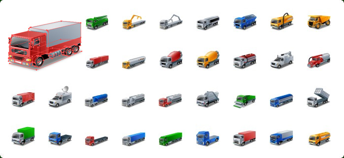 698x322 Transport Vector Icons With Custom Icon Design Service