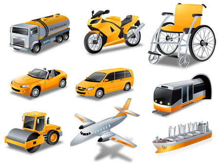452x336 Transport Vector Icons